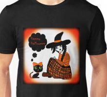 Anime Sitting Halloween Witch Unisex T-Shirt