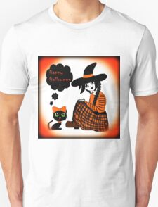 Anime Sitting Halloween Witch T-Shirt