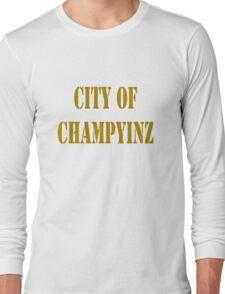 Champyinz city of geek funny nerd Long Sleeve T-Shirt
