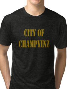 Champyinz city of geek funny nerd Tri-blend T-Shirt