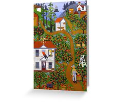 """Apple Pies Here Today"" greeting card Greeting Card"