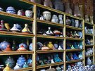 Wall of Pottery by Lucinda Walter