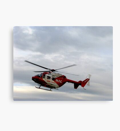 Rescue helicopter Canvas Print
