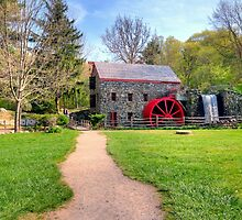 New England Grist Mill II by Monica M. Scanlan