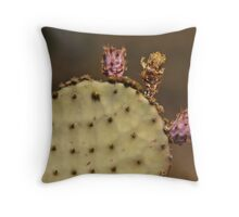 Aging Prickly Pear Throw Pillow