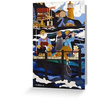 """Fishing On The Bay"" Greeting Card Greeting Card"