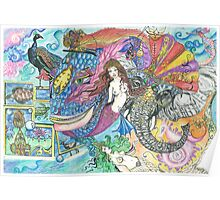 Fantasy Mermaid World Poster