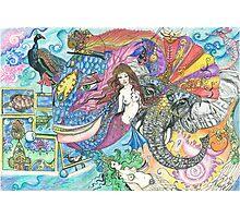 Fantasy Mermaid World Photographic Print