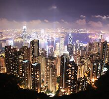 Hong Kong at Night by Thomas Cox