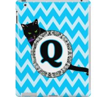 Q Cat Chevron Monogram iPad Case/Skin