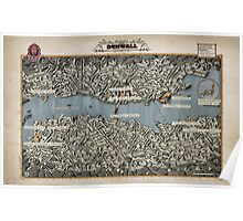 Dishonored Dunwall Map Poster