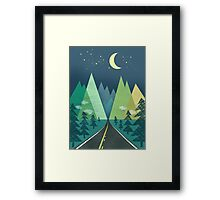 the Long Road at Night Framed Print
