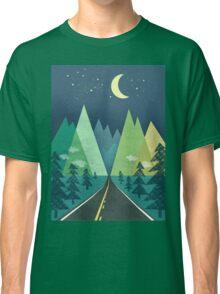 the Long Road at Night Classic T-Shirt