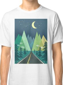 the Long Road at Night Classic T-Shirt