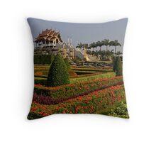 Nong Nuch Gardens Throw Pillow