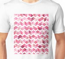 Pink chevron Unisex T-Shirt