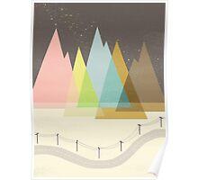 Highway Under Stars Poster