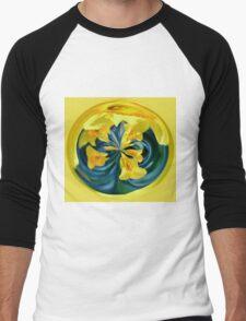 Daffodil Orb Men's Baseball ¾ T-Shirt