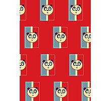 Panda Retro 3 (Pattern 2) Photographic Print