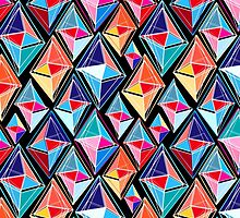 abstract pattern of polygons by Tanor