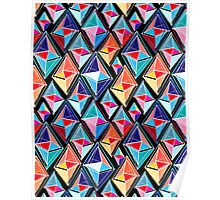 abstract pattern of polygons Poster