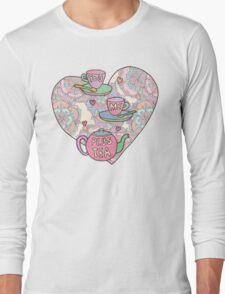 You, me, plus tea. Long Sleeve T-Shirt