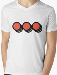 3 Dot Set Light Mens V-Neck T-Shirt