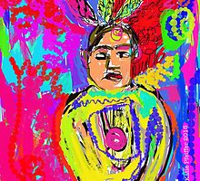 Pop Art Mod  Native American Indian by Kater