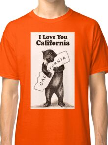 Vintage I Love You California Classic T-Shirt