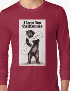 Vintage I Love You California Long Sleeve T-Shirt