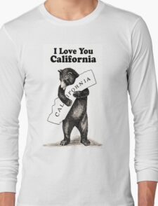 Vintage I Love You California Long Sleeve T-Shirt
