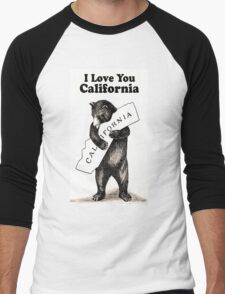 Vintage I Love You California Men's Baseball ¾ T-Shirt