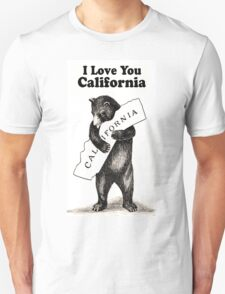 Vintage I Love You California Unisex T-Shirt