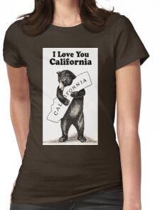 Vintage I Love You California Womens Fitted T-Shirt