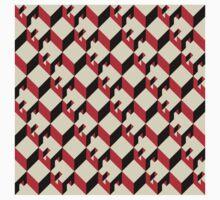 3d cube pattern - geometric design -seamless One Piece - Long Sleeve