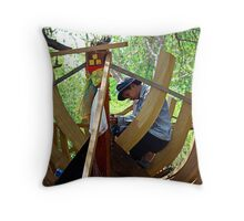 Boat Builder Throw Pillow