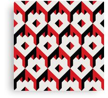 3d cube pattern - geometric design -seamless Canvas Print