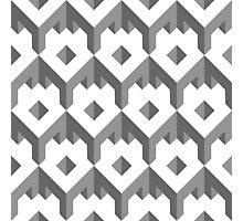 3d cube pattern - geometric design -seamless Photographic Print
