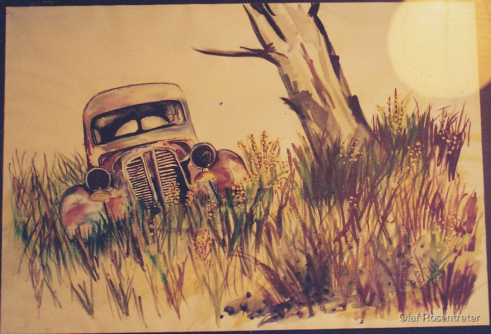 old Car in Australian bush by jonolaf