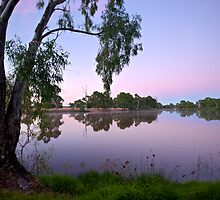 Dawn Across the Banks of the Wimmera River by mgimagery