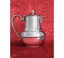 Vintage Silver Coffee Pot Photographic Print