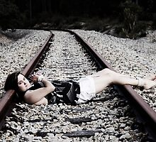 Tied up on tracks #2 by Nigel Donald
