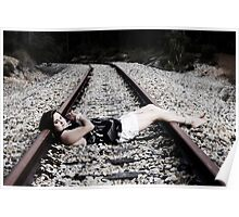 Tied up on tracks #2 Poster