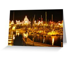 Vancouver Island at dusk.. Canada Greeting Card