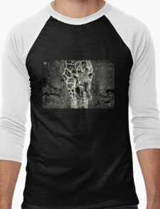 black and white giraffe Men's Baseball ¾ T-Shirt