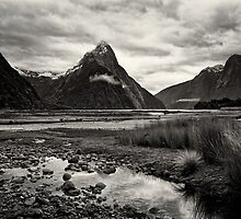 Mitre Peak - Milford Sound, NZ by Dean Mullin