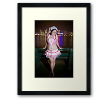 Miss Sailor Framed Print