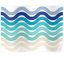 Beach- Sand, Ocean, Sky Color Theme Poster