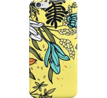 Floral on Yellow Background iPhone Case/Skin
