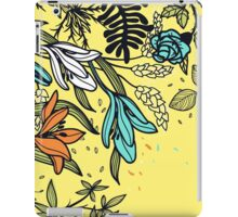 Floral on Yellow Background iPad Case/Skin